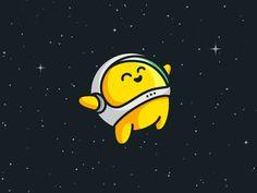 Astronaut animation by Alfrey Davilla Astronaut Illustration, Outline Illustration, Space Illustration, Game Design, Icon Design, Chibi, Mascot Design, Cartoon Design, Cartoon Art