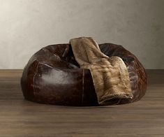 Grand Leather Bean Bag Chair | DudeIWantThat.com