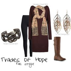 Fall Inspiration with Trades of Hope | Tri-Leaf Earrings | Tangled Bracelet | Medallion Scarf | Stoff Trades of Hope |www.mytradesofhope.com/yesseniastoff