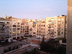 Enero del 2012, 7.30 de la mañana en casa de Consol. Patio de manzana del Ensanche. Esta es mi Barcelona.