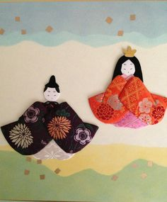 oshie, A couple dressed in heian robes..