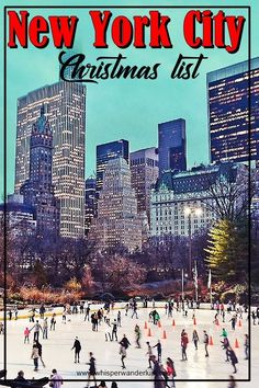 New York City | Manhattan | Christmas in NYC | Christmas in Manhattan | Rockefeller Center Christmas | NYC Christmas Tree | Wollman Rink Christmas | Central Park Christmas | Christmas in New York City | what to do at Christmas in New York