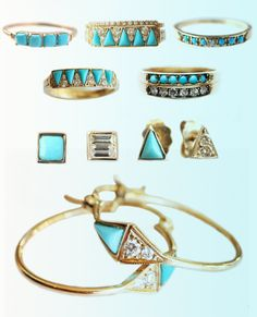 She loves everything turquoise