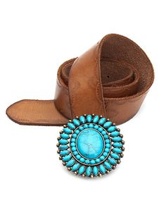 Lucky brand turquoise buckle belt... so loving this