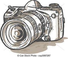 dibujos de camaras reflex - Buscar con Google
