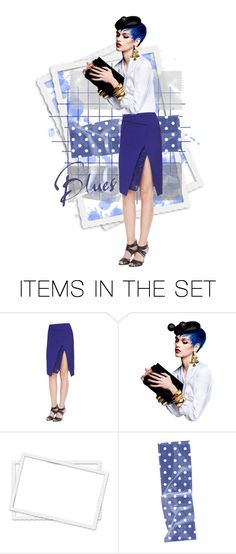 """""""Blues"""" by kbarkstyle ❤ liked on Polyvore featuring art"""