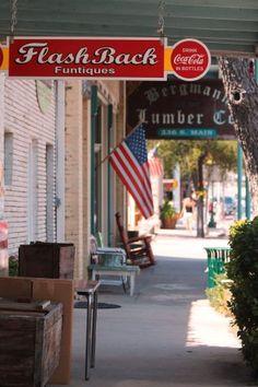 Main Street Boerne Texas, Bergmann Lumber Co. by Jolene Navarro Boerne Texas, Marfa Texas, Texas Getaways, Coca Cola, Only In Texas, Small Town America, Small Town Girl, South Texas, Beautiful Streets