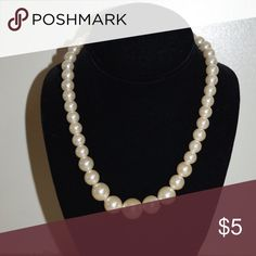 Faux pearl necklace Faux pearl neck Jewelry Necklaces
