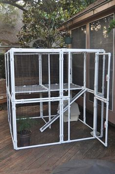 Cat Care Keeping Your Cat Healthy and Your Home Clean Diy Cat Enclosure, Outdoor Cat Enclosure, Reptile Enclosure, Pvc Pipe Projects, Cat Cages, Cat Towers, Outdoor Cats, Outdoor Cat Cage, Cat Room