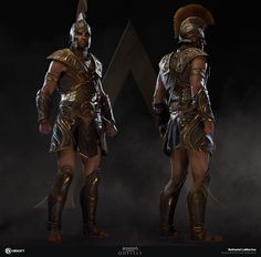 Achilles set in-engine Arte Assassins Creed, Assassins Creed Odyssey, Character Concept, Character Art, Character Design, Rogue Character, Disneysea Tokyo, Assassin's Creed Black, Witcher Wallpaper