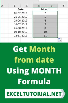 Get Month from date Using MONTH Formula. #Excel #microsoftexcel #Exceltutorial #Exceltutorials #Exceltutor #tutorialexcel #microsofttrainingexcel #microsoftexceltips #Excelformulas #Excelvba #Exceltips #Exceltipsandtricks #Excelvideo #Excelshorcuts Excel Formulas, Excel Hacks, Tech Hacks, Microsoft Excel, What You Can Do, Getting To Know, Computers, Entrepreneur, Automobile