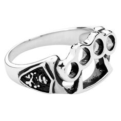 """Un tirapugni sul dito? Ora è possibile! Grazie all' #anello """"Fight"""" a forma di tirapugni in acciaio inossidabile del brand etNox. l.: 14 mm. Disponibile in diverse misure."""