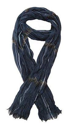 ch/èche /écharpe noir et gris pour homme 175 x 50 cm. G/én/érique Foulard