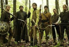 Much, John Little, Robin, Will Scarlet, Allen A' Dale, and Roy. I love the BBC Robin Hood.