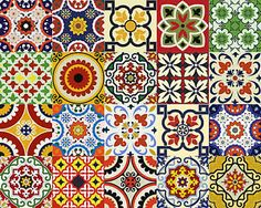 24-Set-Mexican-tile-Stickers-wall-decals-home-decor-Kitchen-decals-Bathroom-D