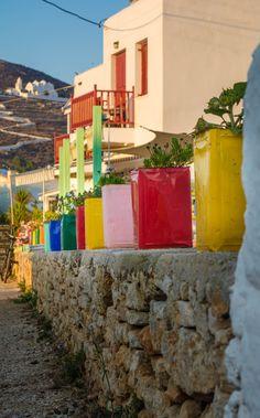 Chora in Folegandros. Greece