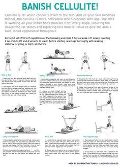 good exercises to reduce cellulite