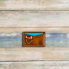 Check out this leather card wallet, it has a pick holder built in, ideal for guitarists on the move, love it! Leather Card Wallet, Guitar Picks, Good Company, Cool Stuff, Beautiful Hands, Tattoo Artists, Stamp, Bear, Check