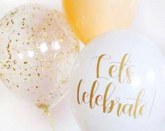 Bouquet de ballons Ballons de confettis LIVRAISON GRATUITE   Etsy