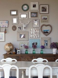 Rustic picture wall