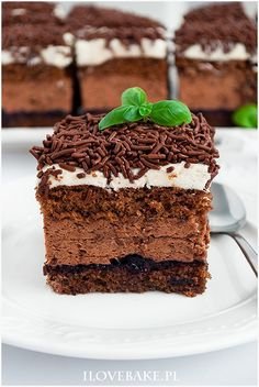 Ciasto Michałek - I Love Bake Polish Recipes, Polish Food, Chocolate Desserts, Tiramisu, Food And Drink, Nutella, Baking, Cake, Ethnic Recipes