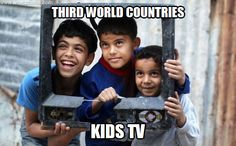 Three Palestinian boys pose inside the frame of a broken television set to have their photo taken in the Mediterranean beachfront al-Shati Palestinian refugee camp, the third largest in the Palestinian Territories, in Gaza City the telegraph Andy Warhol, Fotojournalismus, Seasonal Image, Third World Countries, Television Set, Picture Editor, News Around The World, Boy Poses, Image Of The Day
