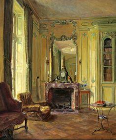 Library at Bréau - Walter Gay, 1905-20 ... - Cozyhuarique
