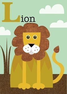 Love her animal letter illustrations... would be cute in Atlas's room.