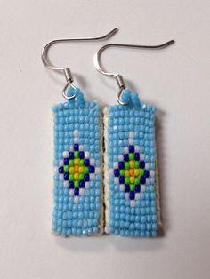 Native American turquoise beaded earrings on Etsy, $15.00
