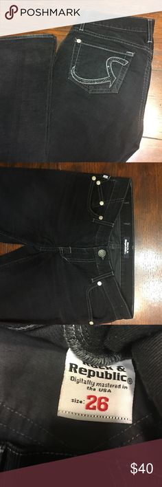 Authentic , not from Kolh's , Rock &Republic. Preowned in excellent condition .Size 26. Black velvet , boot cut style jeans Rock & Republic Jeans Boot Cut