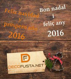 Todo el equipo de Decofusta les desea unas felices fiestas y un año 2016 lleno de felicidad y trabajo!! #InstalaciónDeParquet #ParquetSintético #ParquetDeMadera #Parquet #PuertasLacadas #PuertasDeMadera #Armarios #ArmarioEmpotrado #Cocina #Baño #Restauración #Pulir #Barnizar www.decofusta.net