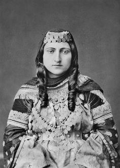 Armenian woman from Shemakha in fine dress. Shemakha. Armenia. The Armenians. 1883.