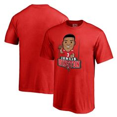Jameis Winston Tampa Bay Buccaneers NFL Pro Line Youth Emoji Player T-Shirt  - Red e410eecfc
