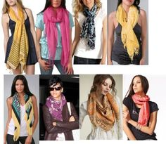 Different Ways To Wear scarves.