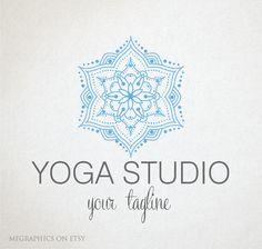 Premade Logo OOAK logo Yoga Logo Design Digital Art by MFGraphics