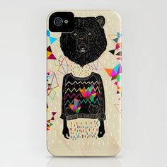 BEAR  by Kris Tate  IPHONE CASE / IPHONE (4S, 4)  $35.00