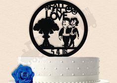 Fallout inspired Wedding Cake Topper 2 Styles by SilhouetteStation