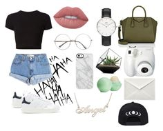 """Sin título #29"" by bertastoneez on Polyvore featuring moda, Levi's, adidas Originals, Getting Back To Square One, Givenchy, Lime Crime, Fujifilm, Daniel Wellington, Uncommon y Eos"