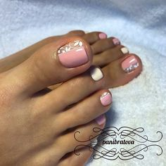 489 Likes, 7 Comments - Педикюр Идеи педикюра Pedicure ( Pedicure Nail Art, Pedicure Designs, Toe Nail Designs, Nail Gel, Toe Nail Color, Toe Nail Art, Nail Colors, Love Nails, Pretty Nails