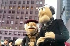 The Muppets (Statler and Waldorf) take Good Morning Anerica