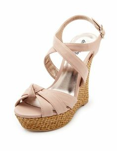 Knot-Front Woven Wedge Sandal: Charlotte Russe
