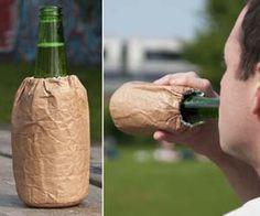 Brown Paper Bag Beer Koozie
