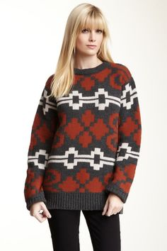 The Portland Collection by Pendleton  Ram's Horn Crew Knit Sweater