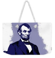 American Politician Weekender Tote Bag featuring the mixed media Abraham Lincoln by Otis Porritt
