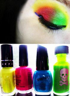 I want some neon makeup <3
