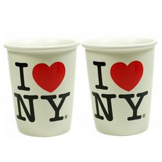 ILOVENY Cup Set Of 2 now featured on Fab.