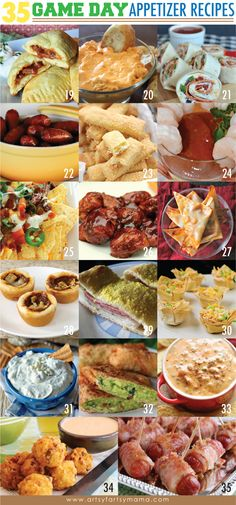 Find creative craft tutorials, simple recipes, printables and more at Artsy-Fartsy Mama Bread Appetizers, Game Day Appetizers, Appetizer Recipes, Craft Tutorials, Chicken Wings, Breads, Food Ideas, Dinners, Oven