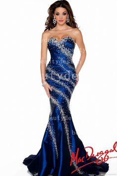 2014 Royal Blue Mermaid Satin Formal Evening Dresses Sequins Beaded Court Train Prom Gowns Sweetheart Backless Dresses 43018P, $140.42 | DHgate.com