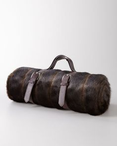 NM EXCLUSIVE - Faux-Fur Mink Travel Blanket