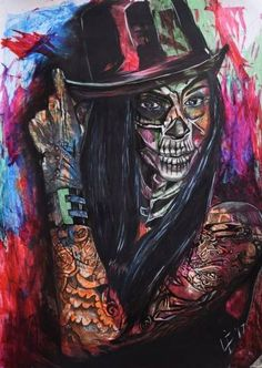 """Saatchi Art Artist Lize Du Plessis; Drawing, """"Obsessed with Tattoos and Death"""" #art"""
